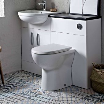 Tavistock MIcra Comfort Height Back to Wall Toilet - BTWC100S