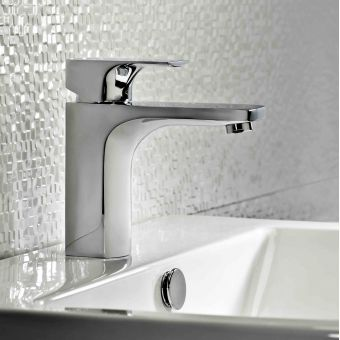 Tavistock Siren Basin Mixer Tap with Click Waste