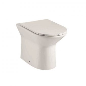 UK Bathrooms Essentials Caxton Rimless Back to Wall Toilet Suite