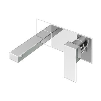 Abacus Plan Chrome Wall Mounted Basin Mixer