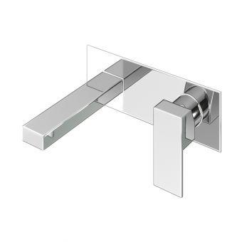 Abacus Plan Chrome Wall Mounted Basin Mixer Tap - TBTS-26-1602