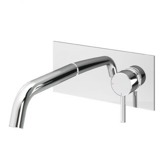 Abacus Iso Chrome Wall-mounted Basin Mixer
