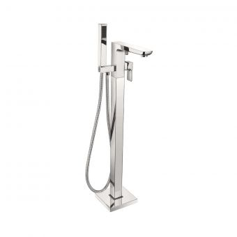 UK Bathrooms Essentials Stansfield Floorstanding Bath Mixer with Shower Handset