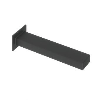 Abacus Plan Matt Black Wall Mounted Bath Spout - TBTS-265-3802