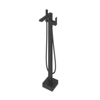 Abacus Plan Matt Black Free Standing Bath Shower Mixer Tap - TBTS-265-3602