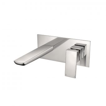UK Bathrooms Essentials Stansfield Wall Mounted Bath Mixer Tap