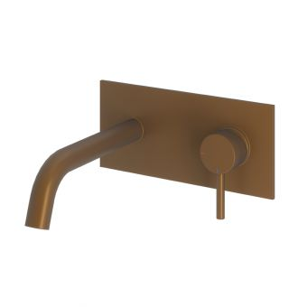 Abacus Iso Brushed Bronze Wall-mounted Basin Mixer Tap