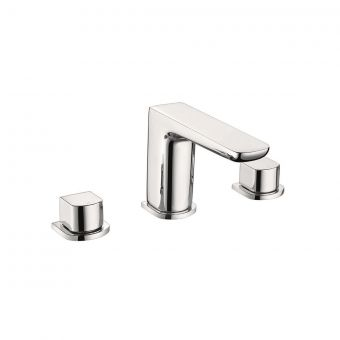 UK Bathrooms Essentials Stansfield 3 Hole Basin Mixer Tap