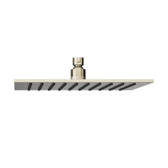 Abacus Emotion Brushed Nickel Square Fixed Shower Head