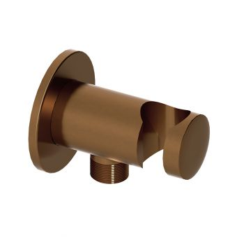 Abacus Emotion Brushed Bronze Round Wall Outlet and Holder