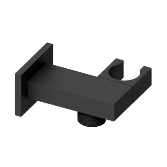 Abacus Emotion Matt Black Square Wall Outlet and Holder