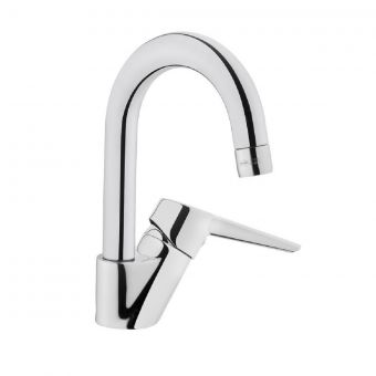 VitrA Solid S Chrome Monobloc Basin Mixer Tap with Swivel Spout