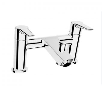 VitrA Solid S 2-Tap Hole Chrome Bath Shower Mixer Tap