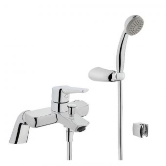 VitrA Solid S Chrome Bath Shower Mixer Tap with Shower kit