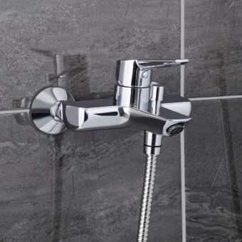 VitrA Solid S Wall-mounted Chrome Bath Shower Mixer Tap without Shower Kit