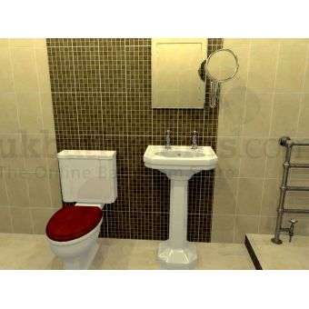 Florence CC Toilet & Washbasin Suite