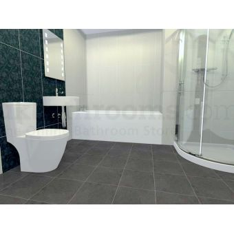 Asti Essentials Basin, Toilet & Quadrant Shower Enclosure