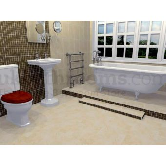 Florence Traditional Complete WC, Basin, Bath & Shower Enclosure Suite