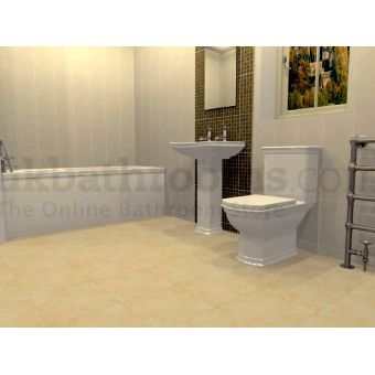 Rome Traditional Complete Basin, WC, Bath & Shower Suite