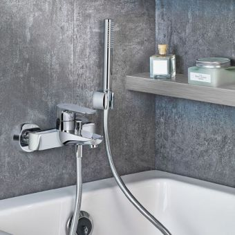 VitrA X Line Wall-mounted Chrome Bath Shower Mixer Excluding Hose and Handset
