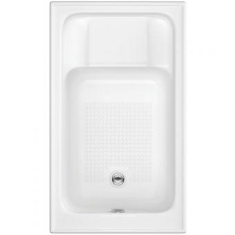 UK Bathrooms Essentials Jasmine Single Ended Sit-In Bath - UKBESB00016