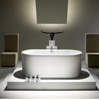 Kaldewei Centro Duo Oval Freestanding Bath with Outer Skin and Leg Set