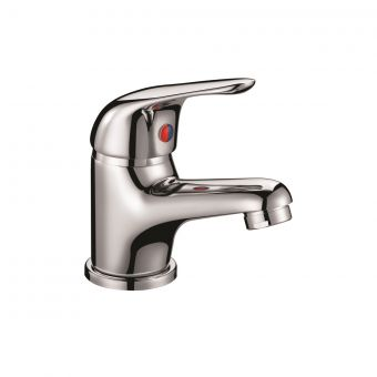 UK Bathrooms Essentials Hillshaw Basin Mixer Tap with 40mm Push Button Waste