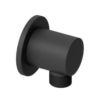 Abacus Emotion Matt Black Round Wall Outlet