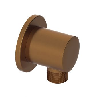 Abacus Emotion Brushed Bronze Round Wall Outlet