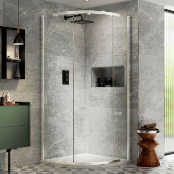 Kudos Pinnacle 8 Quadrant Shower Enclosure - P8Q90