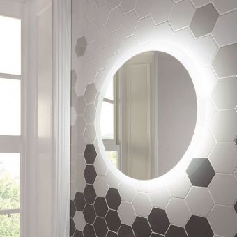 UK Bathrooms Essentials Cornbell 800mm LED Mirror