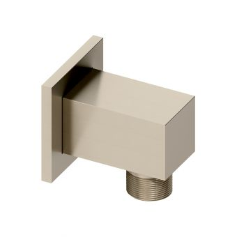 Abacus Emotion Brushed Nickel Square Wall Outlet