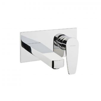 VitrA Q Line Chrome Wall-Mounted Basin Mixer Taps