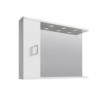 UK Bathrooms Essentials Large Illuminated Bathroom Mirrored Cabinets