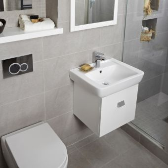 Abacus Opaz White Basin & Vanity Unit 550mm