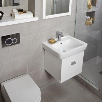Abacus Opaz White Basin & Vanity Unit 55cm