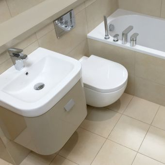 Abacus Opaz Beige Basin & Vanity Unit 50cm