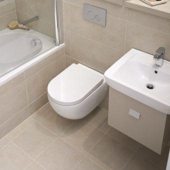 Abacus Opaz Beige Basin & Vanity Unit 55cm