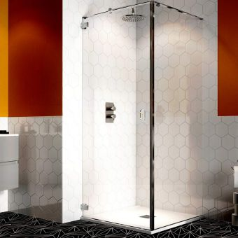 Crosswater Svelte 8 Wall Mounted Hinged Shower Door