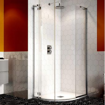 Crosswater Svelte 8 Quadrant Hinged Door Shower Enclosure