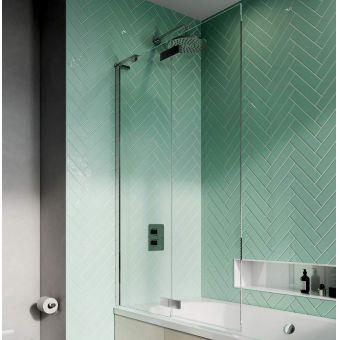 Crosswater Infinity 8 Double Panel Folding Bath Screen - IWBDSC1060+