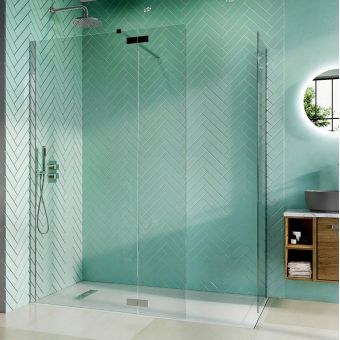 Crosswater Infinity 8 Walk-in Shower with Deflector Panel