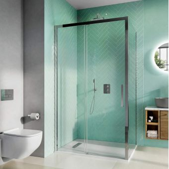 Crosswater Infinity 8 Sliding Shower Door with Soft Close