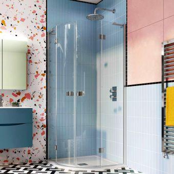 Crosswater Design 8 Double Door Quadrant Shower