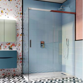 Crosswater Design 8 Soft Close Single Slider Shower Door