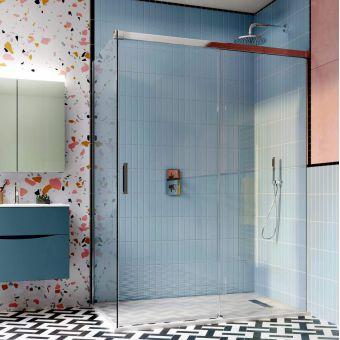 Crosswater Design 8 Soft Close Single Slider Shower Door - DSLSC1200