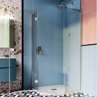 Crosswater Design 8 Single Door Quadrant Shower Enclosure - DQSSC0900+