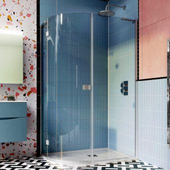 Crosswater Design 8 Offset Single Door Quadrant Shower Enclosure