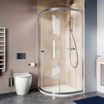 Crosswater Clear 6 Single Door Quadrant Shower Enclosure