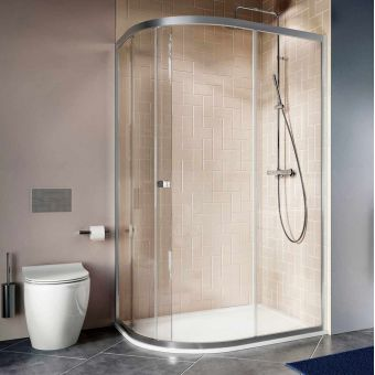 Crosswater Clear 6 Offset Quadrant Shower Enclosure